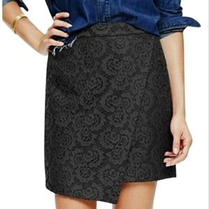 Madewell Black Assymetrical Lace Skirt
